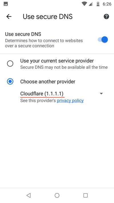 custom DNS-nya menjadi Cloudflare