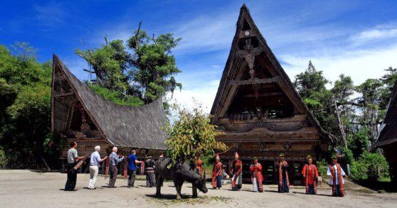 North Sumatra Bolon Traditional House