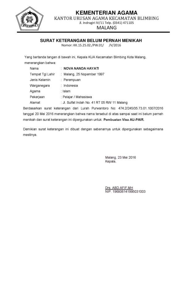 15 Contoh Surat Keterangan Penghasilan Domisili Dll Doc