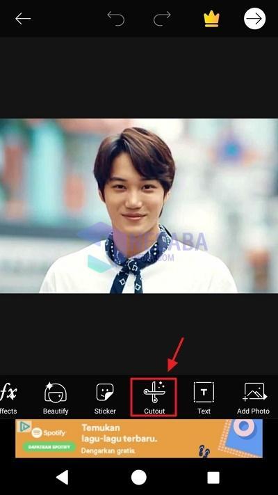 cara mengganti background foto di android dengan mudah