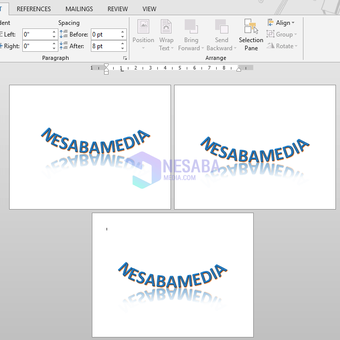 cara membuat halaman menjadi landscape di Microsoft Word