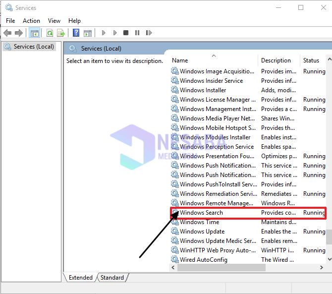 Mengatasi CPU Usage 100% Dengan Disable Windows Search