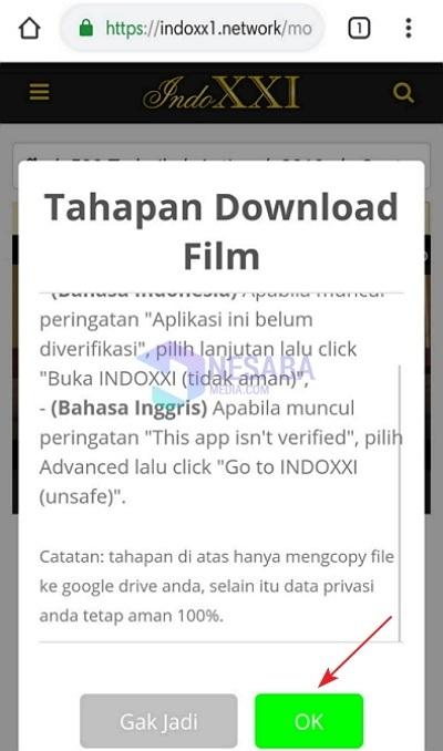 Tahapan Cara Download Film di IndoXXI