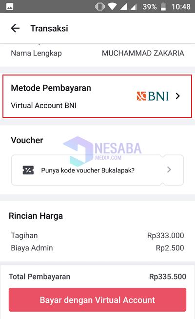 how to pay Indihome via Bukalapak