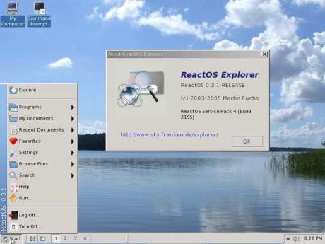 sistem operasi react OS