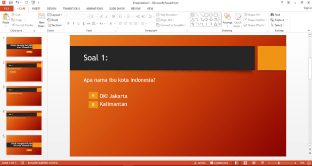how to make multiple choice quizzes in Microsoft PowerPoint
