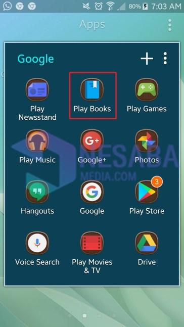 cara download buku di Google Book lewat Android
