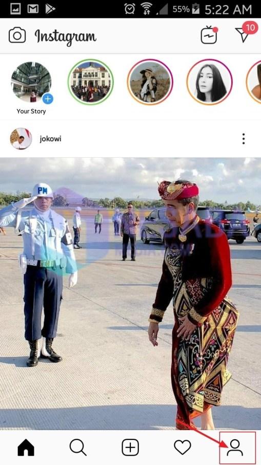 Halaman utama instagram