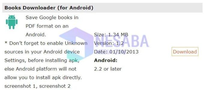 cara download buku di Google Book lewat laptop