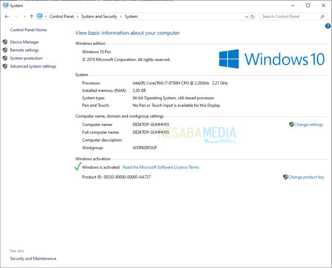 Langkah aktivasi windows 10 - 11