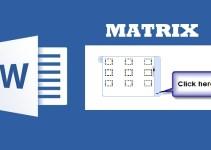 Cara Membuat Matriks di Word