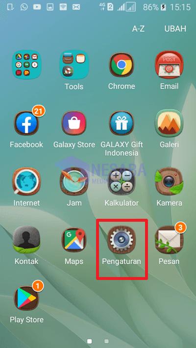 cara melihat versi android lewat Pengaturan