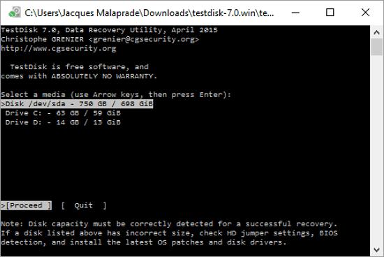 Download the Latest TestDisk