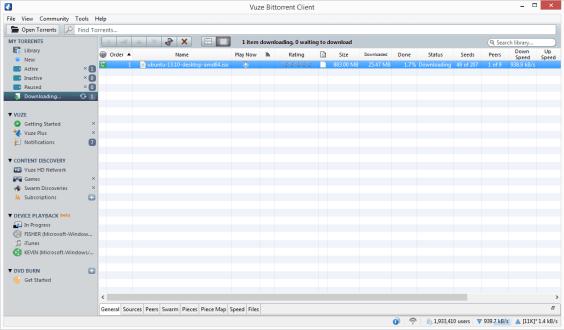 Download Vuze Bittorrent Client