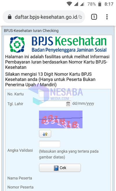 check bpjs bill 1