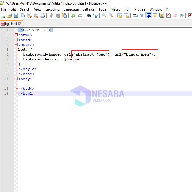 cara membuat background image di HTML untuk pemula