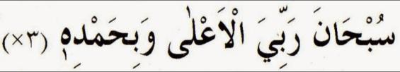 Sub haana robbiyal a'la wabihamdih