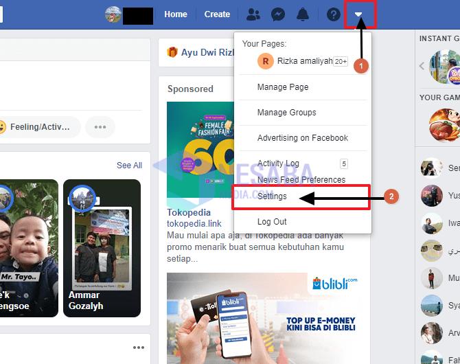 cara mengganti username Facebook di PC