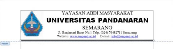 Contoh KOP surat untuk Universitas
