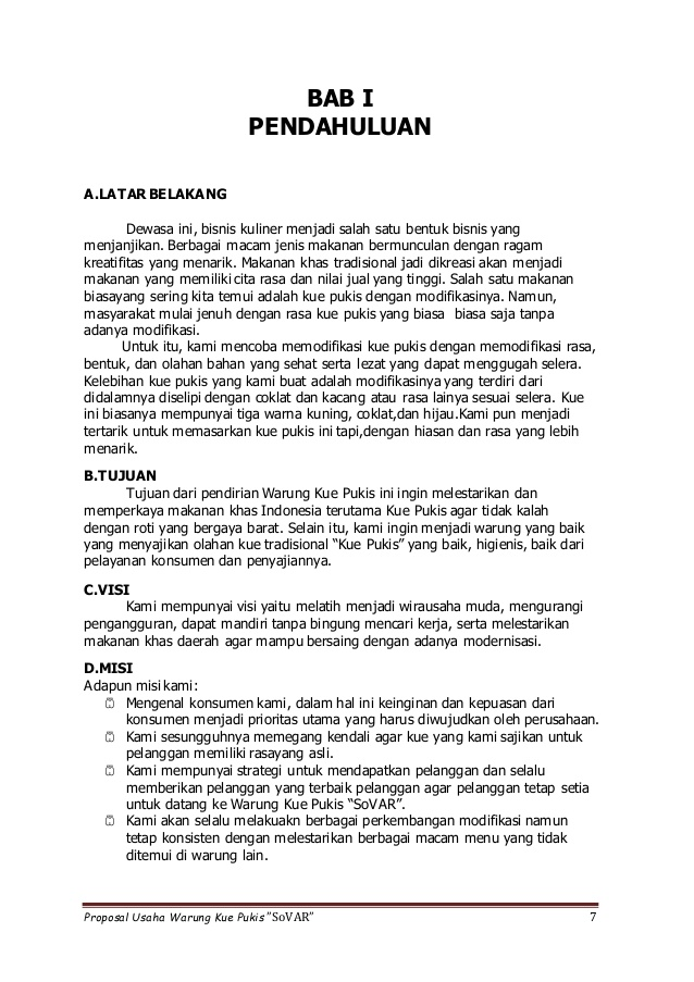 Latar belakang proposal usaha 2