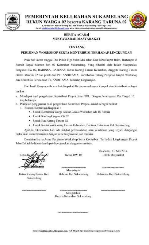 15 Contoh Notulen Rapat Desa Dinas Perusahaan Sekolah Dll