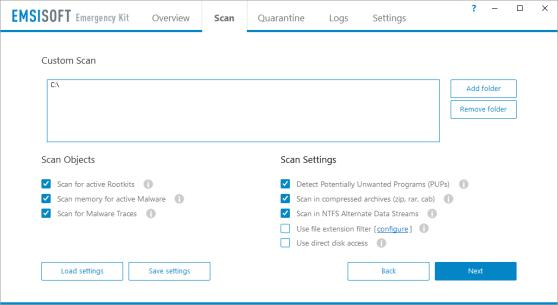 Download Emsisoft Emergency Kit