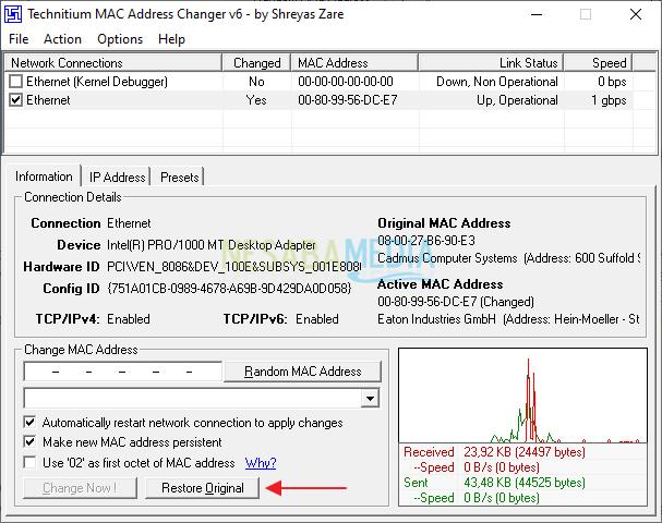 Cara Mengganti mac address di komputer