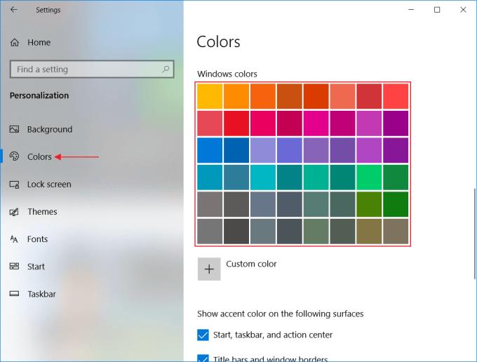 Mengubah Warna Tampilan Windows 10 - Langkah 4