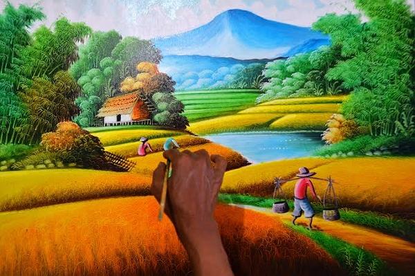 Contoh Seni Rupa Murni Lukisan