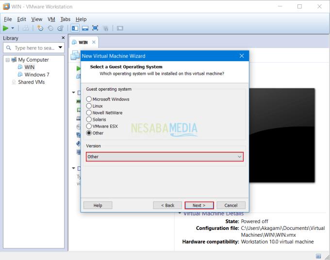 Cara Install OS Windows di VMware