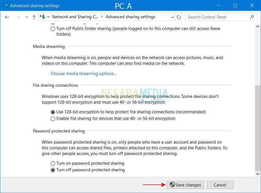 Setting PC A 4