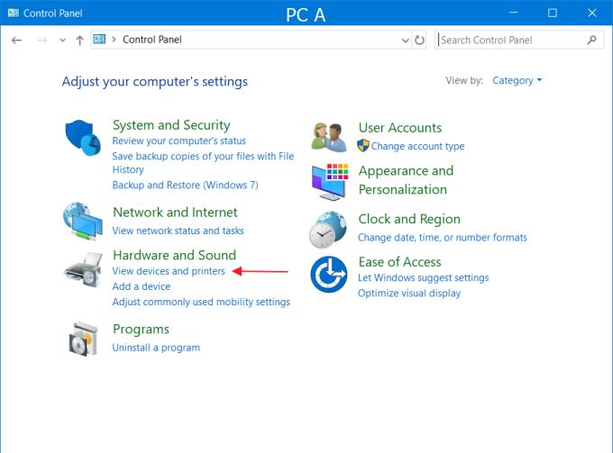 Setting PC A 5