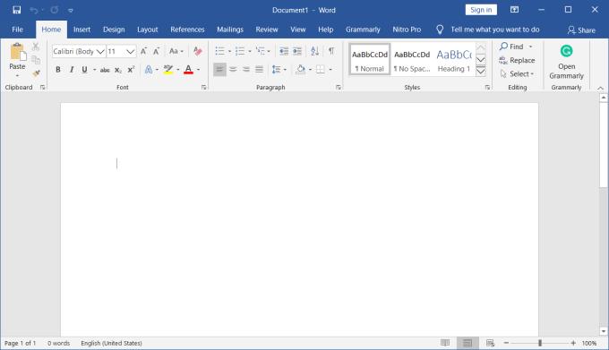 Microsoft Office 2016 - Tampilan