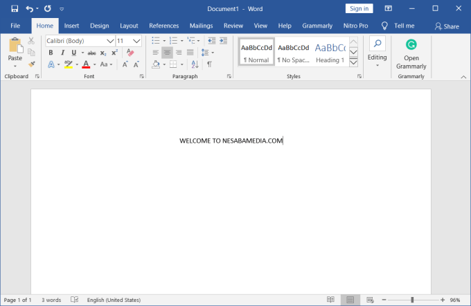 Microsoft Office 2019 Screenshot