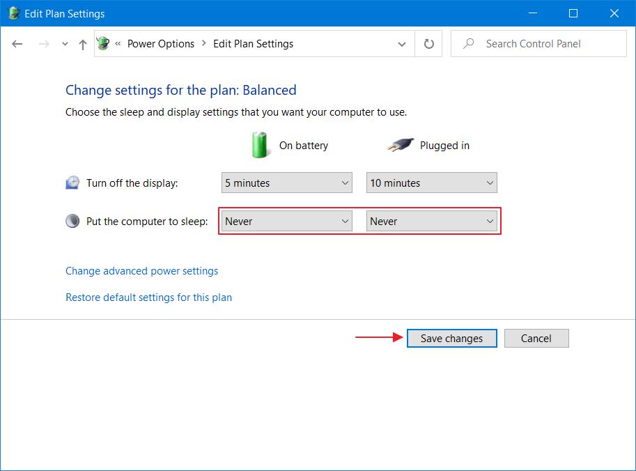 cara setting laptop agar tidak sleep otomatis di windows