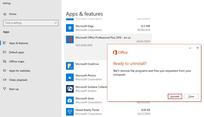 Uninstall Microsoft Office 3