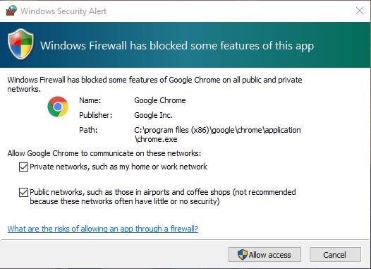 cara mengatasi Windows Firewall has block some features of this program dengan allow access