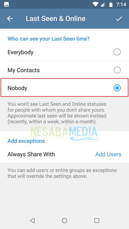 Cara Supaya Telegram Terlihat Offline 4