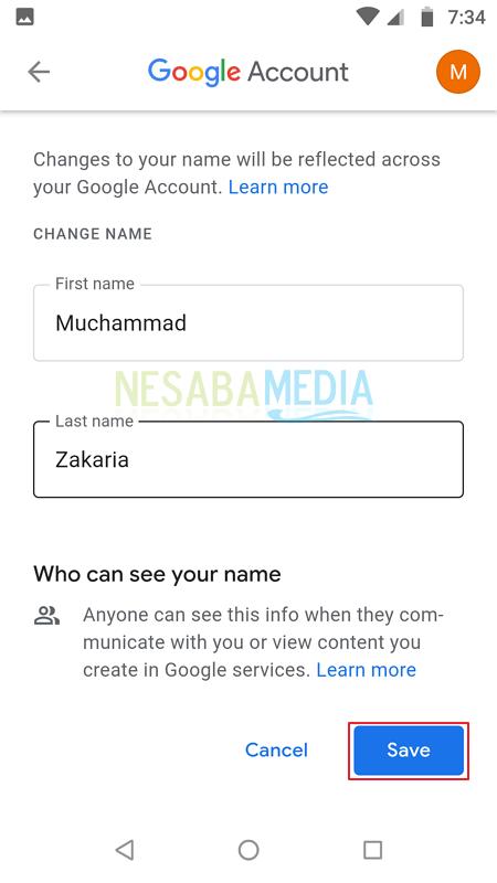 14+ Cara Ganti Nama Di Akun Gmail paling mudah