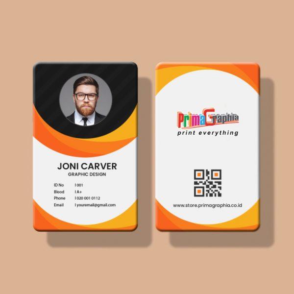 Contoh ID Card untuk Pegawai Percetakan
