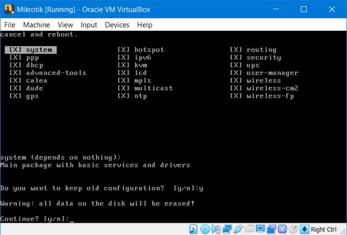 Install RouterOS Mikrotik di VirtualBox 12