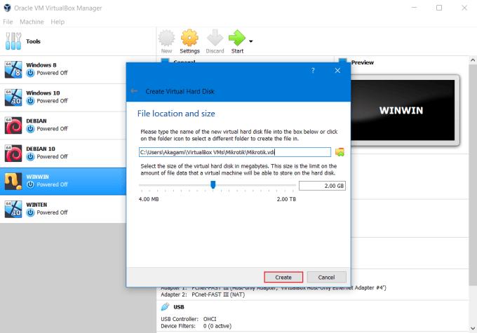 Install RouterOS Mikrotik di VirtualBox 7