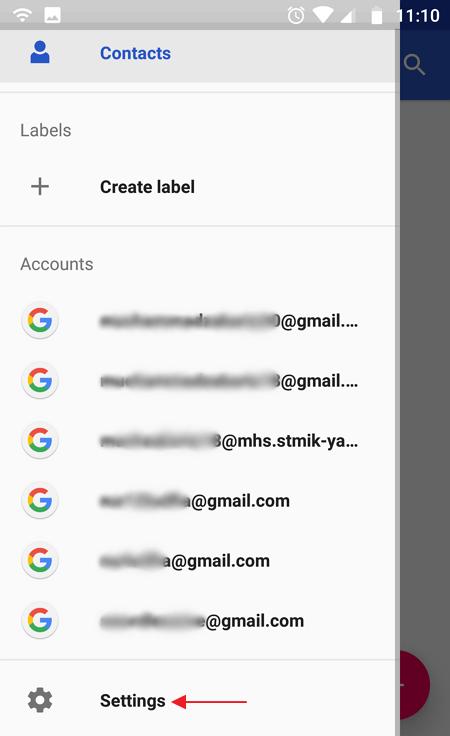 begini cara memindahkan kontak ke gmail
