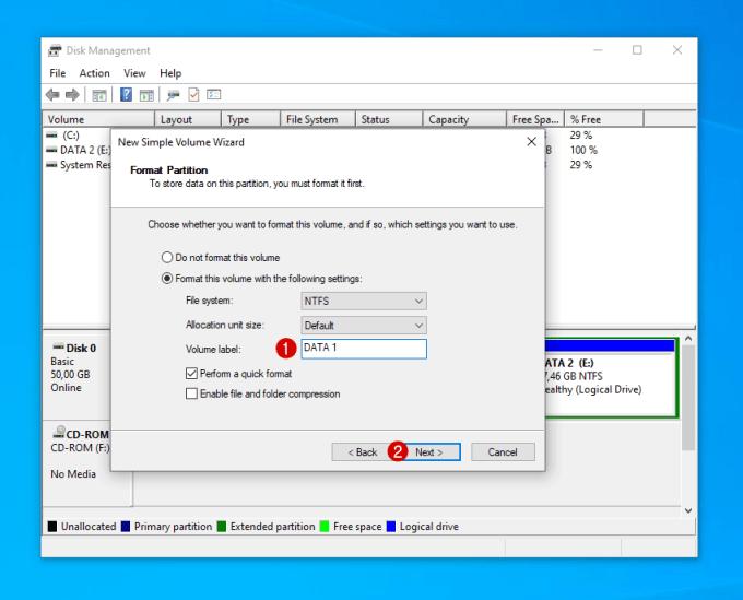 Menambahkan Kapasitas Partisi C di Windows 15