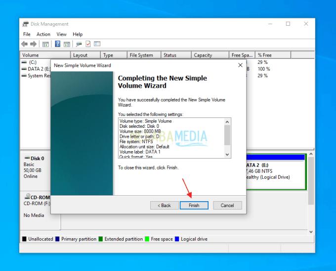 Menambahkan Kapasitas Partisi C di Windows 16