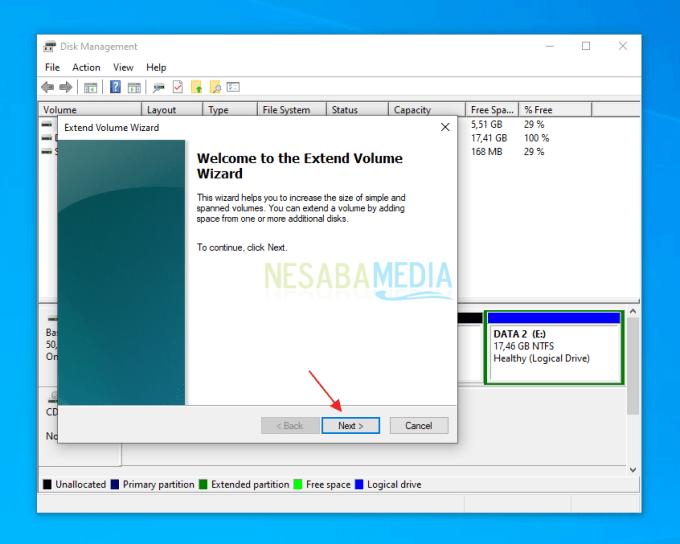 Cara Menambahkan Size Partisi C di Windows 10
