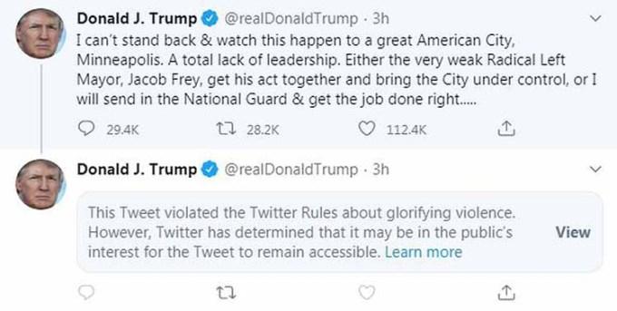 Cuitan Twitter Donald Trump