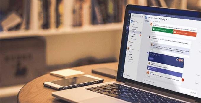 Aplikasi Microsoft Teams di Laptop
