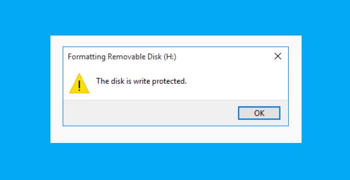 Cara Mengatasi The Disk Is Write Protected 0