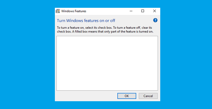 Cara Mengatasi Windows Feature Kosong